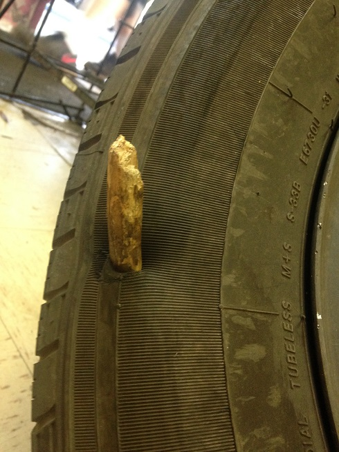 Stick in tire
